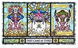 Inked Playmats Stained Glass Titans Card Playmat - Inked Gaming Perfect for Card Gaming TCG Game Mat