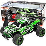 Max Racer RC Truck - Rock Crawler Dune Buggy, 1:18 Scale Remote Control Car with Battery, Electric Charger, and Handset for Offroad, High Speed, Fast Hobby Action, Kids and Adults, 2.4Ghz, Neon Green