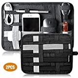 Grid Organizer Backpack Electronic Travel Organizer, Electronic Accessories Grid Cable Inner Bag Organizer for Charging Cable, USB Drive, SD Card, Cellphone,Power Bank, Earphone and More(2PCS)
