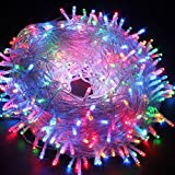 FULLBELL LED String Lights Fairy Twinkle Decorative Lights 200 LED 65.6 Feet with Multi Flashing Modes Controller for Kid's Bedroom, Wedding, Chirstmas Tree, Festival Party, Garden, Patio (Colorful)