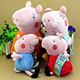 OliaDesign Peppa Pig Family Plush Set (4 Pieces), Small