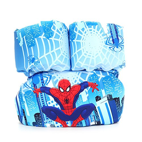 ANAN BABY Swim Puddle Jumper Life Jacket floaties for Toddlers 30-65lbs (Spiderman)