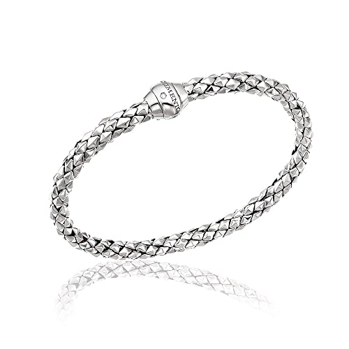Bracciale Donna Oro Bianco 18 Kt E Diamante Chimento Stretch