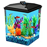 Koller Products 2.5-Gallon Aquarium Kit with LED Light and Power Filter, (AP25000FFP)