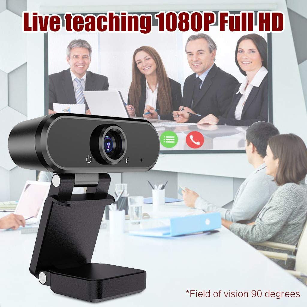 Lavany Full HD 1080p Camera Webcam with Microphone for Desktop PC Computer, USB2.0 Widescreen Video Calling and Recording Laptop Webcam for Video Streaming, Conference, Gaming, Online Classes