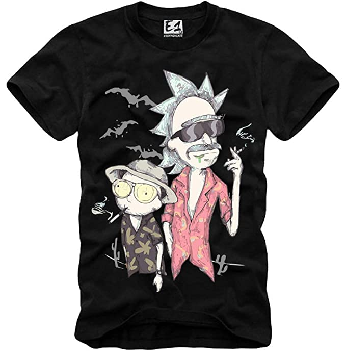 E1SYNDICATE T SHIRT FEAR AND LOATHING IN LAS VEGAS RICK & MORTY