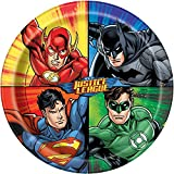 Unique Justice League Dinner Plates, 8ct