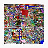 Reddit R/Place 12K Poster Small (16.4 x 16.4 in) | Posters Wall Art for College University Dorms, Blank Walls, Bedrooms | Gift Great Cool Trendy Artsy Fun Awesome Present