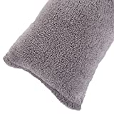 Body Pillow Cover. Sherpa with side zipper by Lavish Home - 18 'x52' (Grey)
