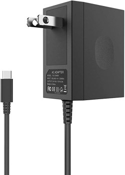 Charger for Nintendo Switch, YCCTEAM Switch Charger AC Adapter 15V/2.6A Fast Charging Replacement for Nintendo Switch/Switch Lite with 5FT Type C Cable, Support TV Mode and Dock