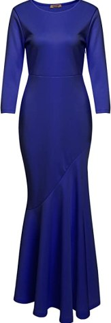ACEVOG Women's Classy Vintage Cocktail Party Bow Pleated Swing Dress