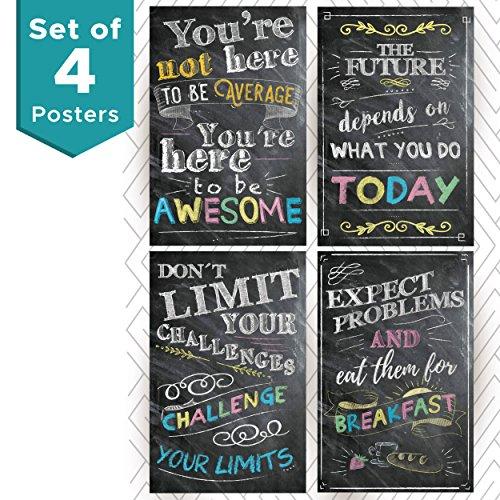 Enjoyable Motivational And Inspirational Posters And Classroom Decorations Wall Art Quotes Multicolor Perfect For Office Or Kids Room Chalkboard Positive Download Free Architecture Designs Grimeyleaguecom