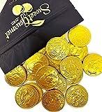 SweetGourmet Milk Chocolate Gold 50c Coins | Premium Belgian Chocolate | 15 oz bag