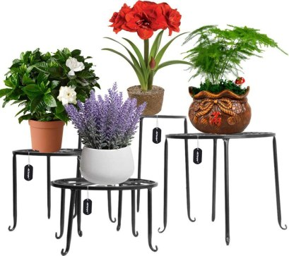 outdoor plant stands for multiple plants