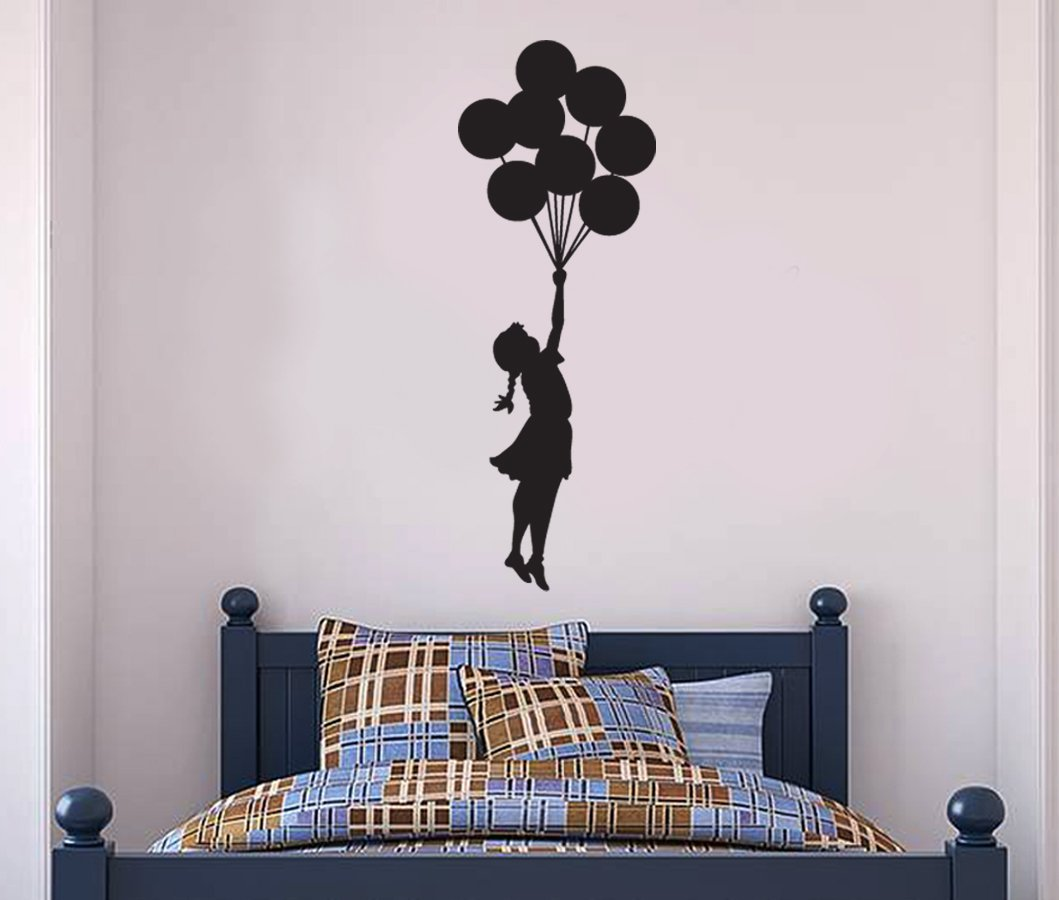 Banksy Wall Decal Hanging Balloon Girl Buy Online In Guernsey At Desertcart