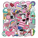 Girl Cute Lovely Laptop Stickers Water Bottle Skateboard Motorcycle Phone Bicycle Luggage Guitar Bike Sticker Decal 60pcs Pack