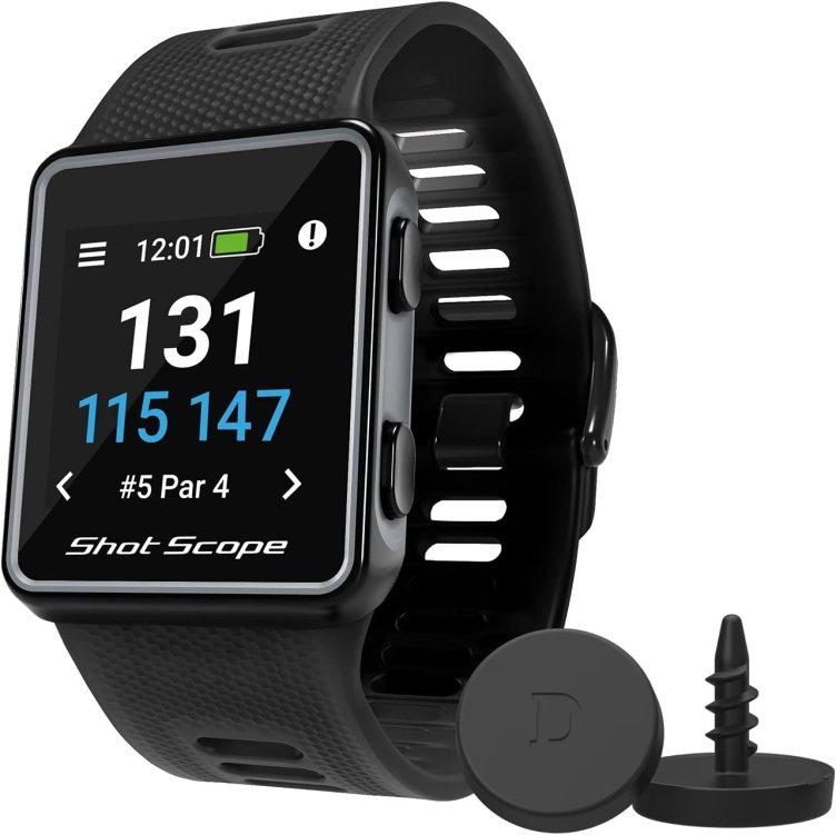 Shot Scope V3 GPS Watch - F/M/B + Hazard Distances