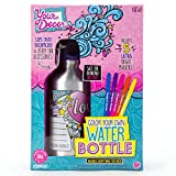 Your Décor Color Your Own Water Bottle by Horizon Group USA, DIY Bottle Coloring Craft Kit, BPA Free, Markers & Gemstones Included, Multi Colored