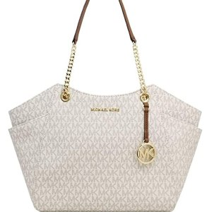 Michael Kors Women's Jet Set Travel Saffiano Large Chain Shoulder Tote