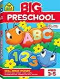 School Zone - Big Preschool Workbook - Ages 3 to 5, Colors, Preschool to Kindergarten, Shapes, Numbers 1-10, Alphabet, Pre-Writing, Pre-Reading, and Phonics (School Zone Big Workbook Series)