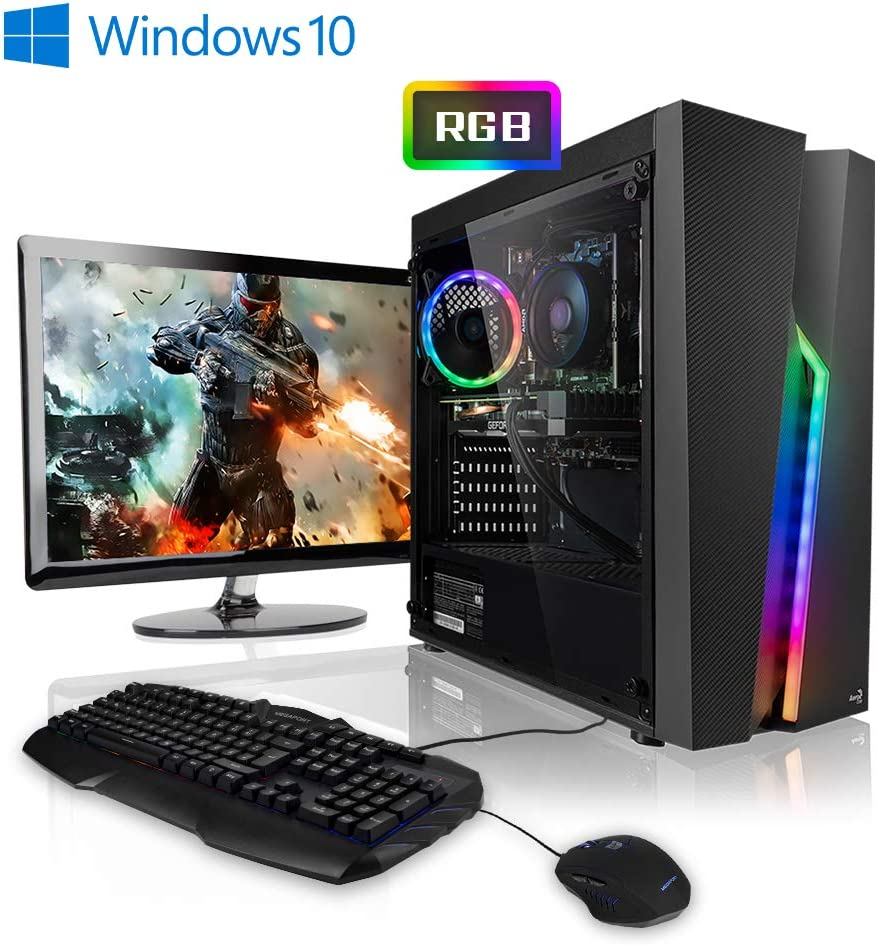 "Megaport Super Méga Pack Rampage - Unité Centrale PC Gamer Complet • Ecran LED 24"" • Clavier et Souris Gamer • AMD Ryzen 3 3200G 4 x 3600 MHz • nvidia GeForce GTX1650 • 8Go • 1To • Windows 10"