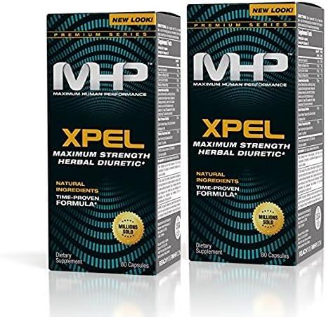 MHP Xpel Maximum Strength Diuretic Capsules, 80 Count (Pack of 2) (Packaging May Vary) 3