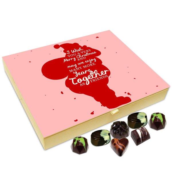 Chocholik Christmas Gift Box – I Wish You A Very Happy and Exciting Christmas Chocolate Box – 20pc