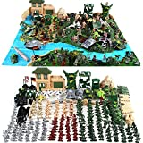 Cp-Tree Huge Simulated Battlefield Play 300 Piece Military Base Set Suit