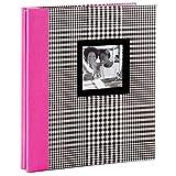 Hallmark Black and White Plaid with Pink Spine Preppy Photo Album Photo Albums