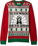 Product review for Ugly Christmas Sweater Men's Jesus-Tis The reason For The Season Sweater