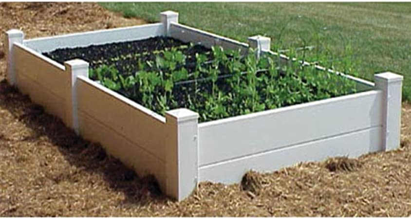 Amazon Com Dura Trel Vinyl Raised Planter Box 4ft X 8ft X 11i Garden Outdoor