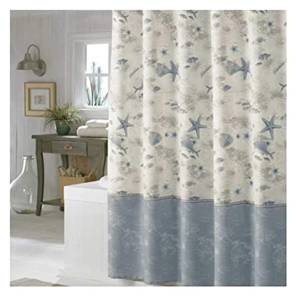 Ds Bath Madamoiselle Seasshower Curtainwaterproof Polyester Fabric Shower Curtainsocean Decorative Shower