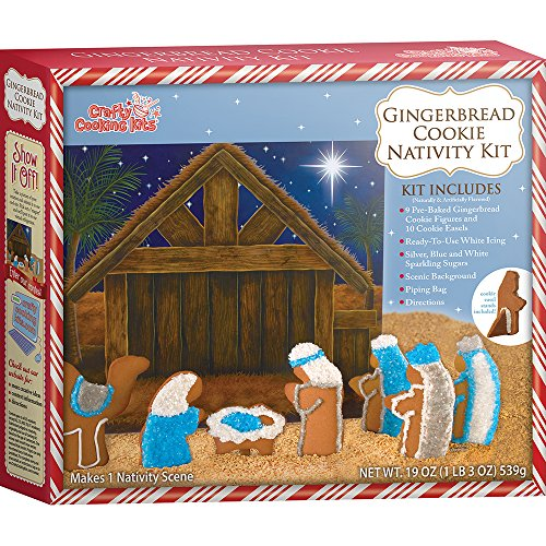 Crafty Cooking Kits Cookie Nativity Kit, Gingerbread, 19 Ounce