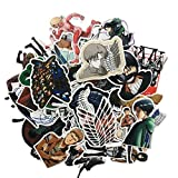42Pcs/set Japanese Anime Attack On Titan Sticke For Laptop Suitcase Bicycle Skateboard DIY Paper Stationery Stickers