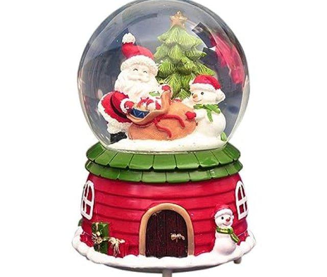 Awhao Palle Di Vetro Globo Di Neve Di Natale Sfera Di Vetro Con