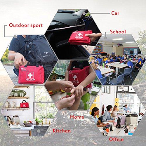 Songwin Botiquín de Primeros Auxilios de 130 artículos,Survival Tools Mini Box -Impermeable Bolsa Médica para el Coche,Hogar,Camping,Caza,Viajes,Aire Libre o Deportes,Pequeño Y Compacto. 6