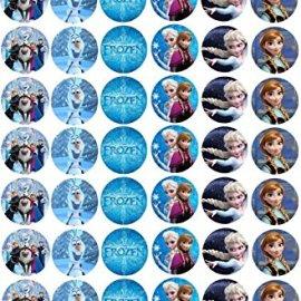 54 Mini cialde Cupcakes Frozen Anna Elsa Olaf