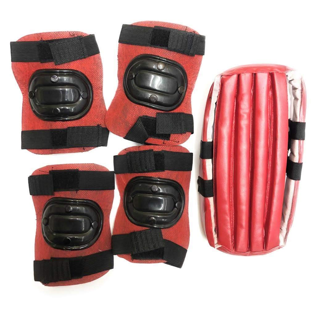 Karun enterprises Cycling and Skating Protection Kit for Children (1 Helmet,Pair of Knee and Pair of Elbow Protection) (Multicolor)