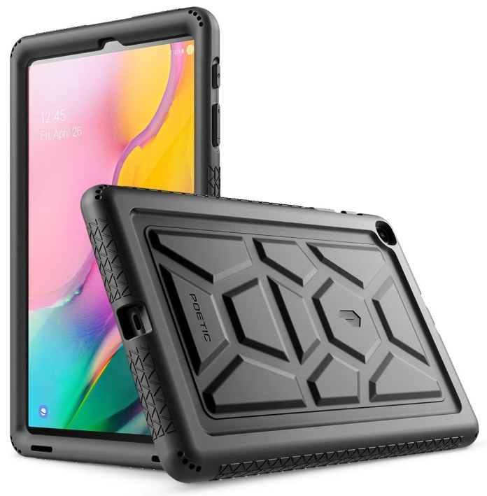 Galaxy Tab A 10 1 2019 Case Model Sm T510 T515 Poetic Heavy Duty Shockproof Kids Friendly Silicone Case Cover Turtleskin Series For Samsung Galaxy Tab A Tablet 10 1 Inch 2019 Black Buy Online In Grenada