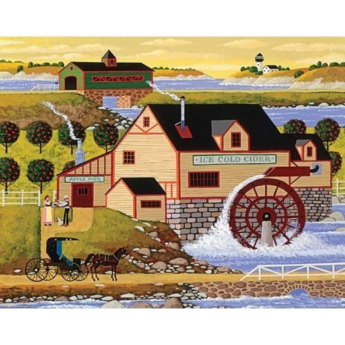 Mega Puzzles: Hometown Collection 1000 piece Old Cider Mill Puzzle by Mega Brands