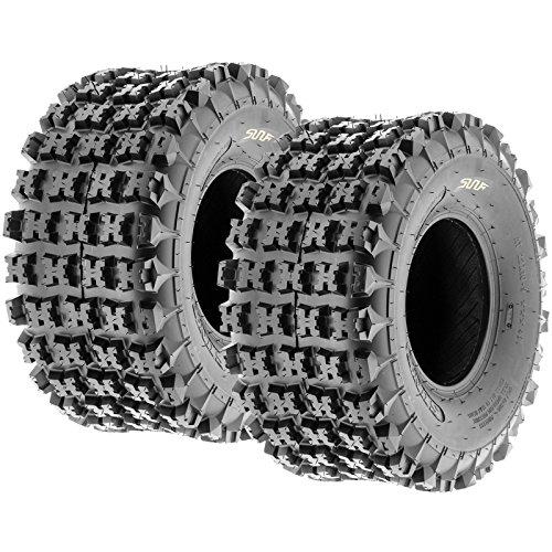 Set of 2 SunF A027 XC ATV UTV Knobby Sport Tires 22x10-9, 6 PR, Tubeless