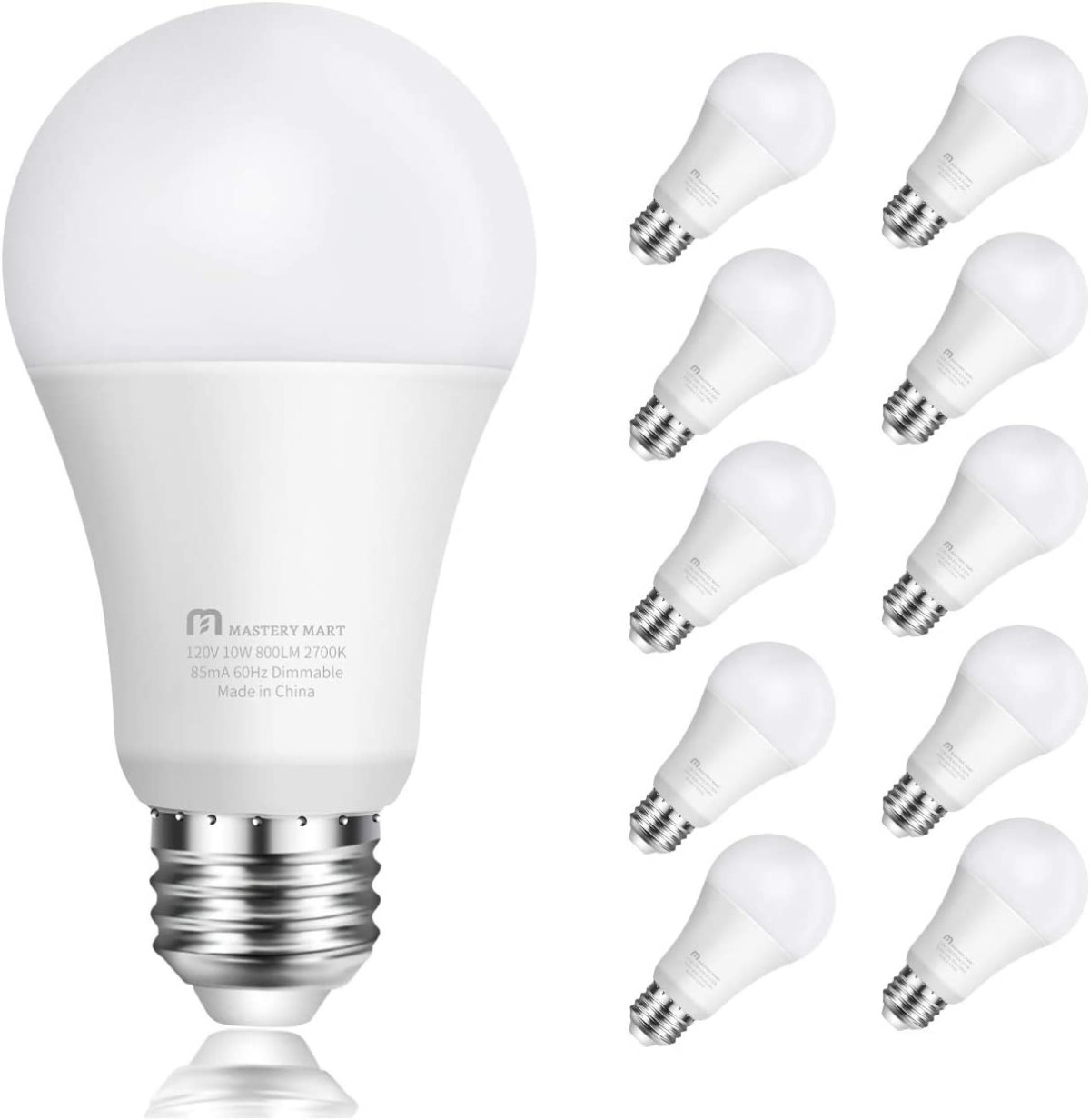 A19 - E26 Dimmable UL Listed by Mastery Mart