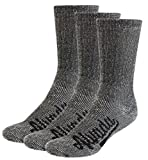 AIvada 80% Merino Wool Hiking Socks Thermal Warm Crew Winter Sock For Men Women 3 Pairs SM