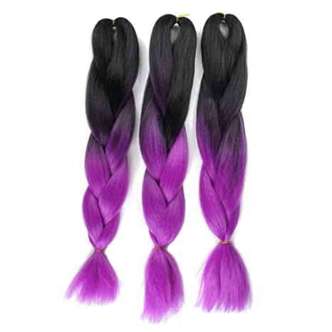 Ombre Jumbo Braid Hair Extension High-Temperature Fiber