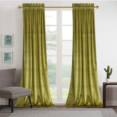 Roslynwood Living Room Block Light Velvet Curtains