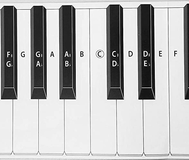 Amazon Com Practice Keyboard Note Chart For Behind The Piano