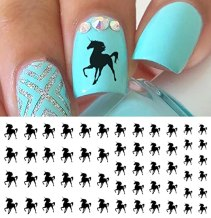 Black Unicorn Water Slide Nail Art Decals- Salon Quality!
