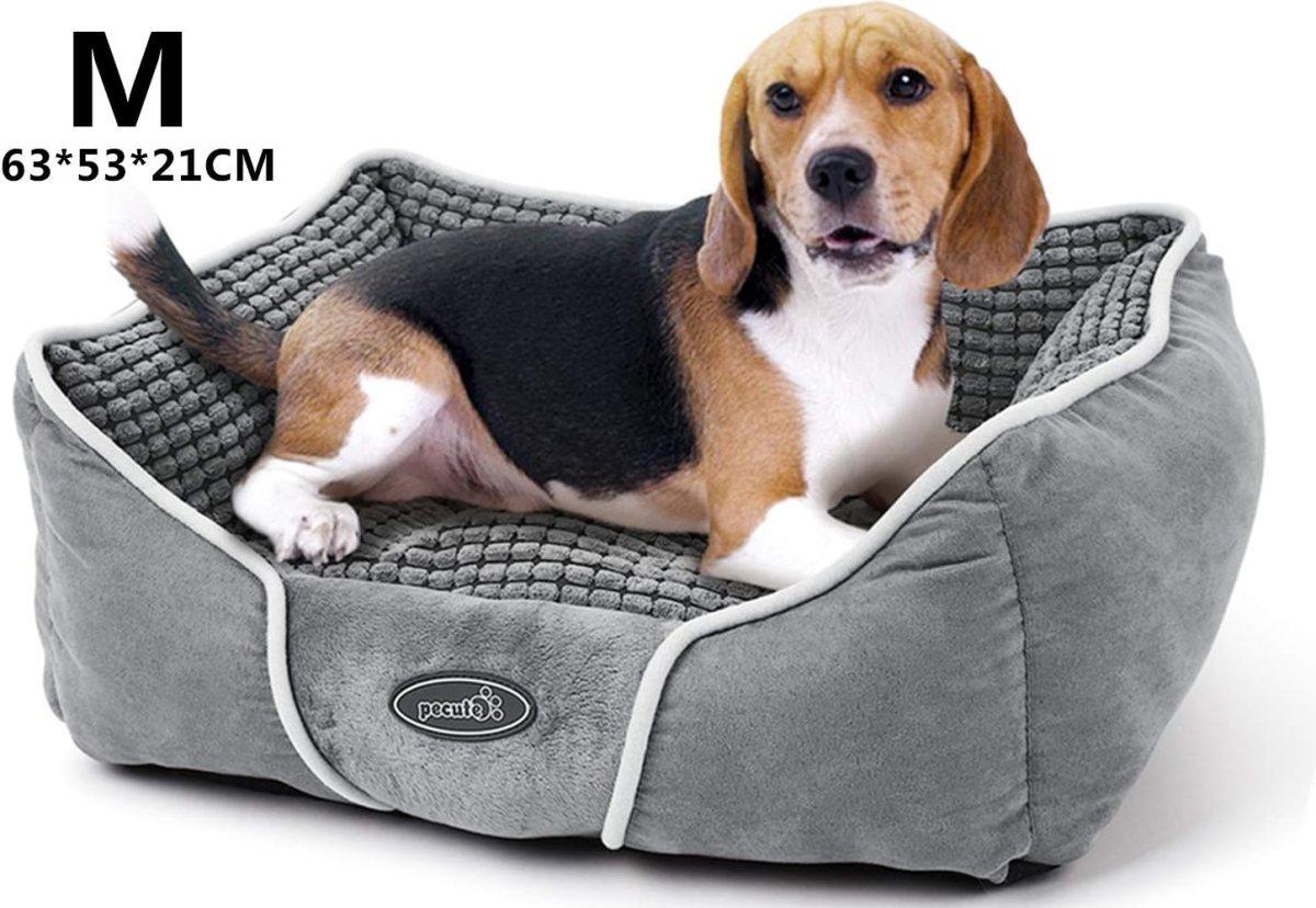 Cama de Perros y Mascotas Básica Cama de Suave Gamuza para Perros y Gatos