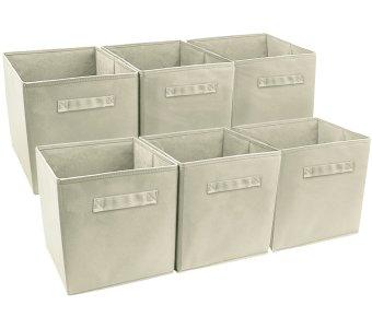 Sorbus Foldable Storage Cube Basket Bin, 6 Pack