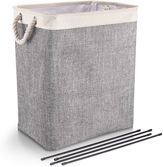 Amazon Com Dyd Laundry Baskets With Handles Collapsible Linen Hampers For Bedroom Storage Built In Lining With Detachable Brackets Well Holding Foldable Laundry Hamper For Toys Clothing Organization Home Kitchen